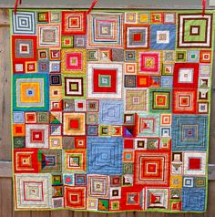 Shirt boxes quilt, inspired by Kaffe Fassett