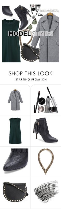"""""""Yoins 24: Model Style"""" by pokadoll ❤ liked on Polyvore featuring Bobbi Brown Cosmetics, BaubleBar, Valentino, Whiteley, Ray-Ban, MustHave, winter2015 and yoins"""