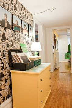 Renter-friendly wall love via Apartment Therapy