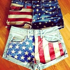 Cute red white and blue shorts