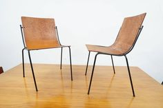 12 Modernist Iron Dining Chairs in the Manner of Charlotte Perriand 3