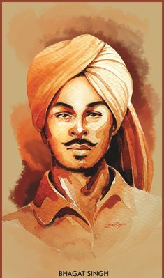 Bhagat Singh Birthday, Bhagat Singh Wallpapers, Patriotic Movies, Hd Images, Images Photos, Potrait Painting, Grey Hair Men, Indian Independence Day, Navratri Images