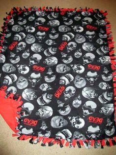 The Walking Dead w/ Red back Fleece Tie Blanket