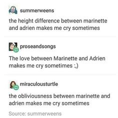 Lesson of the day for a miraculer: Adrien and Marinette make us cry