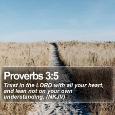 Proverbs 3:5 Trust in the LORD with all your heart, and lean not on your own understanding. (NKJV)  #Meditation #Hope #MotivationalQuote #JesusLovesYou http://www.bible-sms.com/