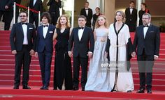 Guest, Rares Andrici, Malina Manovici, Cristian Mungiu, Maria Dragus, Lia Bugnar and Adrian Titieni attends the 'Graduation (Bacalaureat)' Premiere during the 69th annual Cannes Film Festival at the Palais des Festivals on May 19, 2016 in Cannes, France.