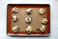 Blueberry muffin cookies on baking sheet Blueberry Cookies, Blueberry Recipes, Fall Cookies, Yummy Cookies, Lemon Curd Pavlova, Lemon Ricotta Cookies, Simple Muffin Recipe, Biscuits, Sallys Baking Addiction
