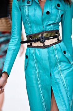 Chic turquoise coat