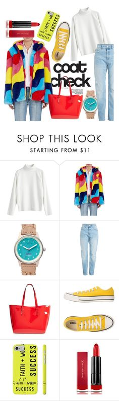 """""""the primarys"""" by lindzeyers ❤ liked on Polyvore featuring Mira Mikati, Triwa, Kendall + Kylie, Converse, Max Factor and statementcoats"""