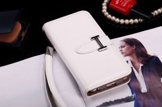 Buy Designer hermes iphone 6/6S Leather Case Cover White