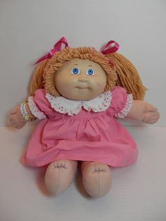 Cabbage Patch Kids Girl Doll Blonde Hair Blue Eyes Xavier Roberts Coleco Vintage 1986 Child Friendly Collectible Toy Cuddly Playtime Gift via Etsy