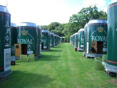 """Can Sleep in Lake Skanderborg, Denmark is a 121 room hotel made up of giant beer cans placed in groups of 6.  It is actually open only in August each year for a music festival and each """"can"""" has a sleeping loft, a """"lid"""" that opens and the minibar is stocked with Royal Unibrew beer."""