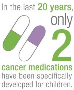 Because in the last 20 years, only 2 new cancer medications have been specifically for childhood cancers. #empiregogold