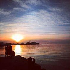#Trieste al tramonto [© Instagram User: @pghira] #TriesteSocial #sunset #Italy