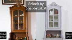 Shabby Chic Relook credenza con vetrina all'inglese Chicano, China Cabinet, Shabby Chic, Storage, Video, Furniture, Home Decor, Purse Storage, Decoration Home