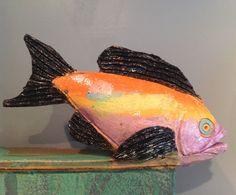 Ceramic Box Fish Box   Tropical Fish Ceramic by KeyWestPottery