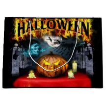 Shop Scary Halloween Gift Bag created by superkalifragilistic. Halloween Gift Bags, Custom Gift Bags, Large Gift Bags, Scary Halloween, Cool Gifts, Diy Funny, Painting, Image, Art