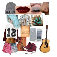 """My luv"" by crystallynn-kelley ❤ liked on Polyvore featuring Converse, Retrò and Young & Reckless"