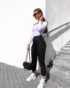 Visit our site for more Fashion and Trendy Outfits Cute Comfy Outfits, Simple Outfits, Classy Outfits, Stylish Outfits, Beautiful Outfits, Casual Sporty Outfits, Sporty Chic, Teenager Outfits, College Outfits