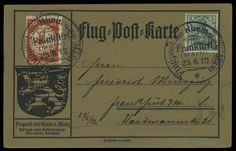 German Empire, Germania with watermark Airmail stamps, Michel VI.