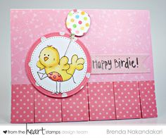From the Heart Stamps, Happy Birdie, Birdie and Balloon Birthday card, Stamping as Fast as I Can!
