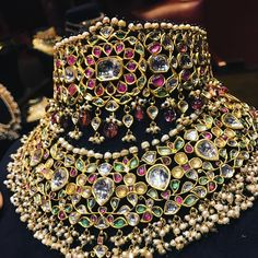 Thank you Repost from Ancient Indian jewellery re-born in the fecund imagination of SabyaSachi. Royal Jewelry, India Jewelry, Fine Jewelry, Gold Jewelry, Ethnic Jewelry, Gold Bangles, Indian Wedding Jewelry, Indian Bridal, Bridal Jewellery