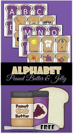 Kids are going to love this fun FREE Alphabet Peanut Butter and Jelly activities that will allow them to practice alphabet letters with alphabet sounds whi