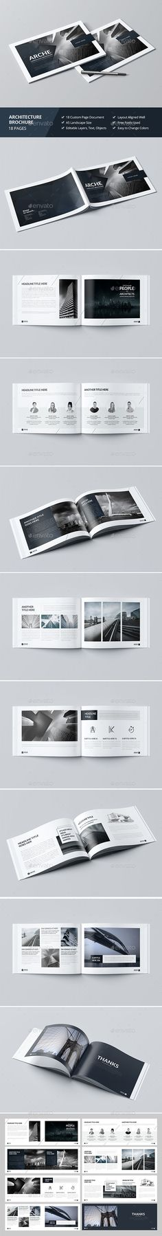 Modern Architecture Brochure 24 Pages A4 \ A5 Template InDesign - architecture brochure template