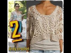 BLUSA EN HORQUILLA Y CROCHET ( PARTE 2 ) Andy crochet