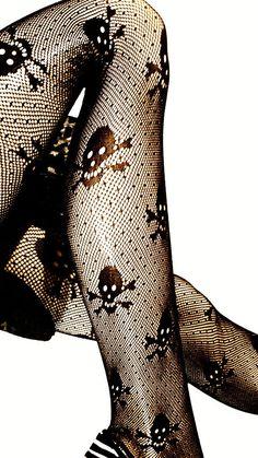 Skulls /& Roses Classic Leggings 8-18 UK skull rose rock punk rockabilly gothic