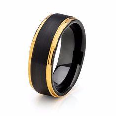 250 Best Yellow Gold Tungsten Wedding Bands Images Tungsten