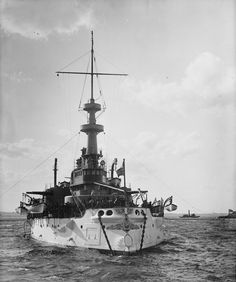 USS Indiana BB-1 seen in early 1898. - Help Us Salute Our Veterans by supporting their businesses at www.VeteransDirectory.com, Post Jobs and Hire Veterans VIA www.HireAVeteran.com Repin and Link URLs