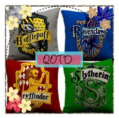 """""""QOTD - Which Hogwarts house you in"""" by moon-and-back-babe123 ❤ liked on Polyvore"""