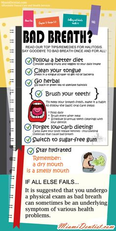 Some people have genuine concerns about this issue so here's some handy tips for saying goodbye to bad breath once and for all.