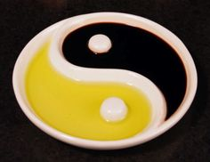 Zen Dipping Bowl - Light and dark, yin and yang, oil and vinegar. Achieve a harmoniously tasty balance with the Zen ceramic dipping bowl. May not look as great with any other substrate, but cool item regardless.
