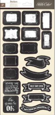 Thataway Chalkboard Stickers - Banners and Labels