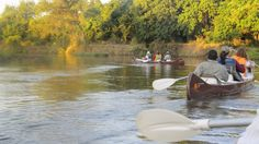 Canoeing in the Lower Zambezi. #Africa #Zambia #Zambezi #Travel #Safari #Bush #River #canoe