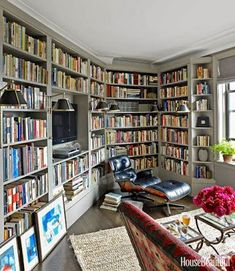 A chic book room