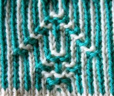 Antique Swedish technique Twined Knitting.