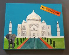 Last year I came up with this canvas project for Grade 3 to tie in with their social studies curriculum.   I describe it to the student...