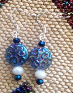 Iridescent glass and crystal on Etsy, $30.00