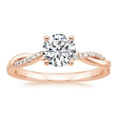 Embracing diamonds in rose gold engagement ring