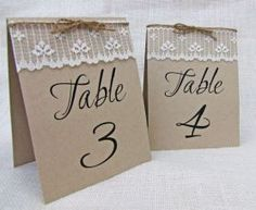 tarjetas numeros de mesa