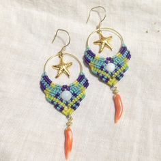 #macrame #earring #handmade #mano #artesania #arete#マクラメ #accessory…