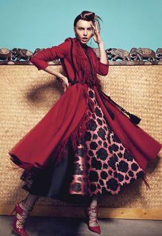 Editorial Perfect Match for Basic Magazine with model Masha Samoylova lensed by Vasilis Topouslidis