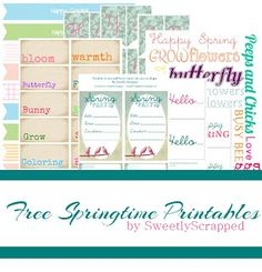 Sweetly Scrapped: Free Springtime Printables