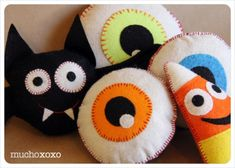 fun and easy halloween projects these little felt friends are quick to make and loads of fun these guys are equally great as decorations or toys