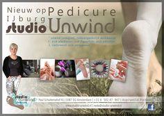 Flyer voor pedicure, studio Unwind