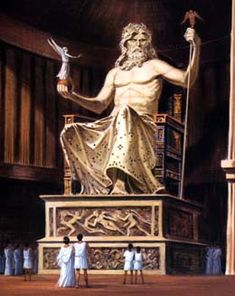 Statue of Zeus at Olympia ~ one of the seven wonders of the world that I really wish I could have seen before it was lost.