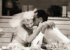 Marilyn Monroe. e Arthur Miller il giorno del loro Matrimonio